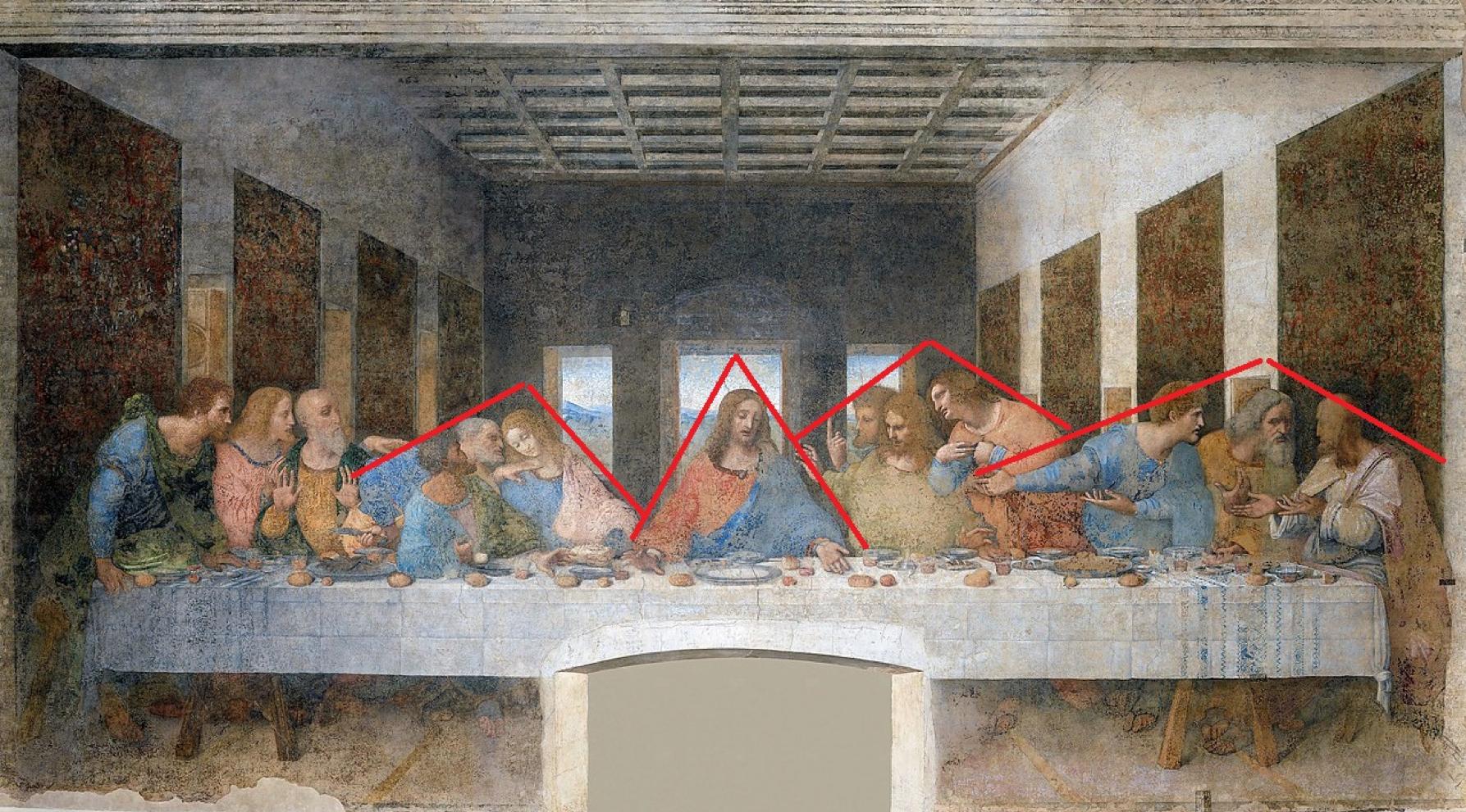 Разбираем композицию «Тайной вечери» Леонардо